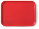Dienblad rood 435 x 306 mm