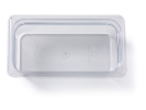 Gastronormbak helder transparant 1/3 x 100 mm polycarbonaat