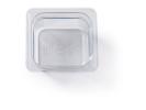 Gastronormbak helder transparant 1/6 x 100 mm polycarbonaat