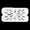 Gastronorm lekrooster 1/4 polycarbonaat helder transparant