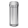 Afvalemmer slimline 45 liter, brushed stainless steel