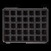 Ijsblokjesvorm kubus met deksel 2 x 2 cm silicone, zwart