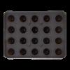 IJsblokjesvorm voor ijsballen met deksel  3 cm silicone, zwart