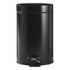 Pedaalemmer 3 liter, mat zwart