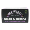 Fruit  nut bars brazil  sultana with peanuts and almonds