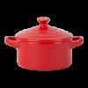 Serveerpan mini rond met deksel 14 x 9.5 cm, rood