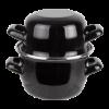 Mosselpan  12 cm 0.5 kg/0.9 L, zwart