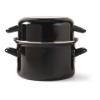 Mosselpan  18 cm 1.2 kg/1.9 L, zwart