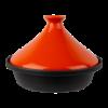 Tajine  25 cm inductie, zwart-oranje