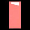 Sacchettos fuchsia met servetten 2-laags 19 x 8.5 cm - servet 33 x 33 cm, wit