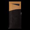 Bestekzakje met servet, zwart