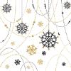 Servetten 3-laags 33 x 33 cm, snow necklace white