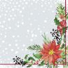 Servetten 3-laags 33 x 33 cm, xmas flowers