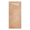 Sacchettos nature met servetten 2-laags 19 x 8.5 cm - servet 33 x 33 cm, champagne
