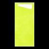Sacchettos kiwi met servetten 2-laags 19 x 8.5 cm - servet 33 x 33 cm, wit