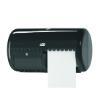Dispenser toiletpapier T4 kunststof, zwart