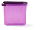 Food container 1/6 gastronorm paars 2.6 liter, 17.6 x 16.2 x 15 cm