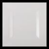 Bord vierkant 16.5 x 16.5 cm, wit