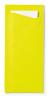 Bestekzakje met servet, kiwi-wit