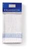 Glazendoeken heellinnen wit-blauw 65 x 65 cm
