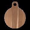 Serveerplank rond  36 cm Acacia medium met handvat