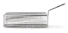 Mini frituurmandje rechthoek RVS 21 cm