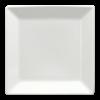 Bord rand vierkant wit, 16 cm