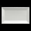 Bord rechthoek wit, 22 x 13 cm