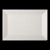 Bord rechthoek wit, 25 x 17 cm