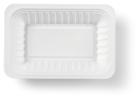 Schaaltje V1 plastic wit