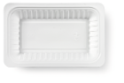 Schaaltje V2 plastic wit