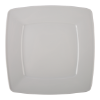 Bord vierkant wit, 26 x 26 cm