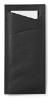 Bestekzakjes zwart - servetten wit