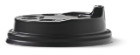Deksel t.b.v. cappuccinobeker 350ml plastic zwart