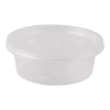Bakje met deksel 75 ml plastic transparant