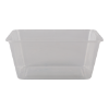Maaltijdbak 1-vaks 1000ml plastic transparant