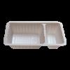 Plastic bakje wit A23 2-vaks (sausbakje)
