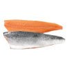 Zalmfilet Noors c-trim, met vel, zonder graat 3/4 kg