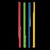 Drinkrietje 21cm 6mm papier kleurmix FSC