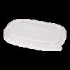 Deksel maaltijdbak plastic transparant
