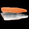 Zalmfilet Noors c-trim, met vel, zonder graat, van zalm 4/5 kg