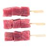 Tonijnspies tonijnblokjes a 30 gram op spies geregen