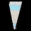 Puntzak PP 180 x 370 mm, blauw