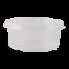 Cup en deksel, transparant, rond 350 ml