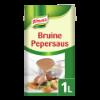 Bruine peper saus