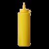 Dispenser flacon 20 cl dop 50 x 185 mm PP, geel