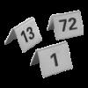 Tafelnummers no. 13-24 RVS