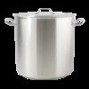 Kookpan hoog rvs met deksel 37 liter