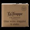 Witte trappist bierglazen