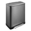 Afvalbak E-cube recycle 18 + 28 L, black steel